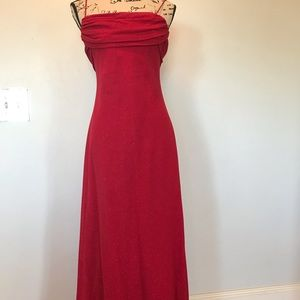 Sparkling Red spaghetti strap gown